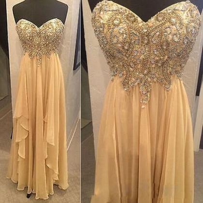 A Line Chiffon Prom Dresses Beaded ..