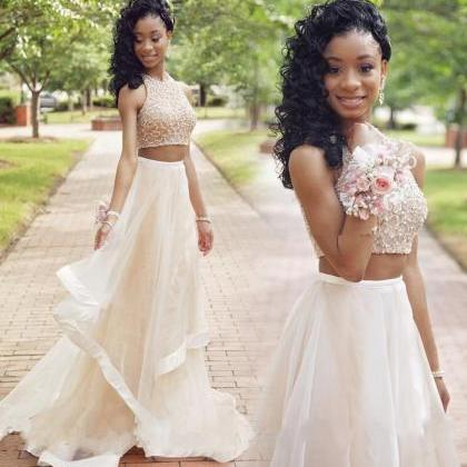 Two Piece Prom Dresses,2017 Sequin ..