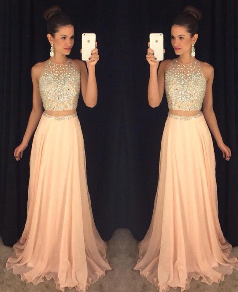 Custom Size Beaded Chiffon A-line Evening Dresses 2016 New Prom ...