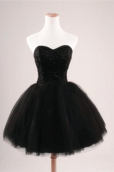 Homecoming Dresses,Short Homecoming Dresses,Black Homecoming Dresses,Short Dresses,Tulle Homecoming Dresses,Prom Dresses,Party Dresses